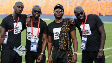 Photo of Fuse ODG's performance at the AFCON closing ceremony