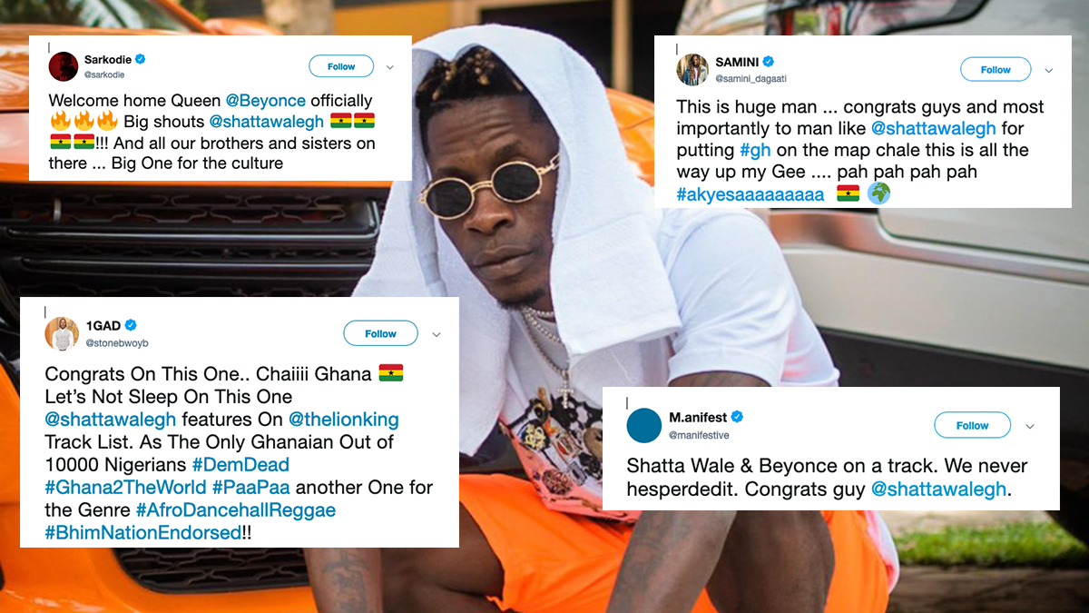 Stonebwoy, Sarkodie, M.anifest & more react to Shatta Wale - Beyoncé collab