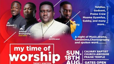 Akesse Brempong, Lil Zig, ADOMcwesi, others ready for My Time of Worship 2019