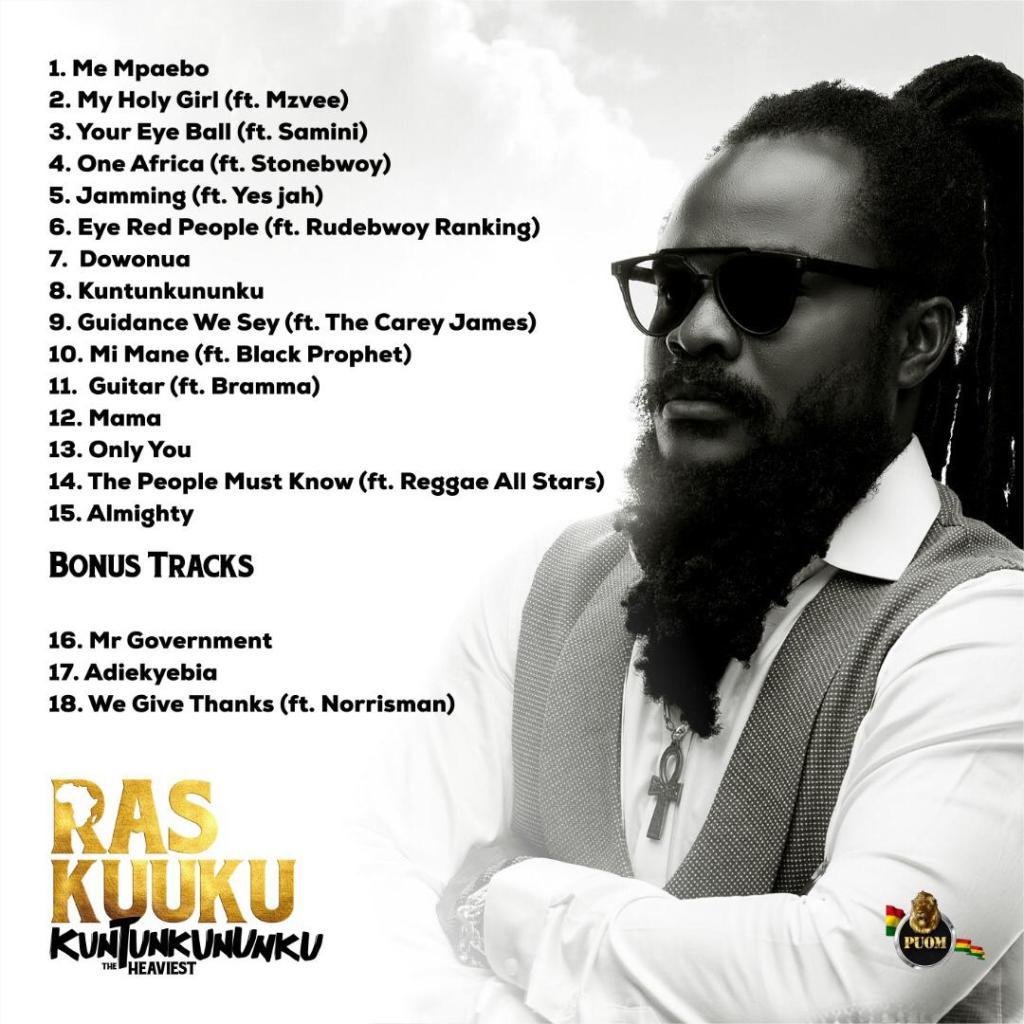 Ras Kuuku announces tracklist for Kuntunkununku album