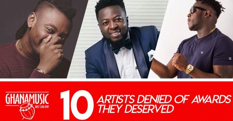 List of Top 10 deserving artistes denied of awards
