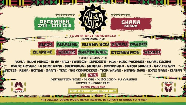 R2Bees, Efya, King Promise & more for Afro Nation Ghana