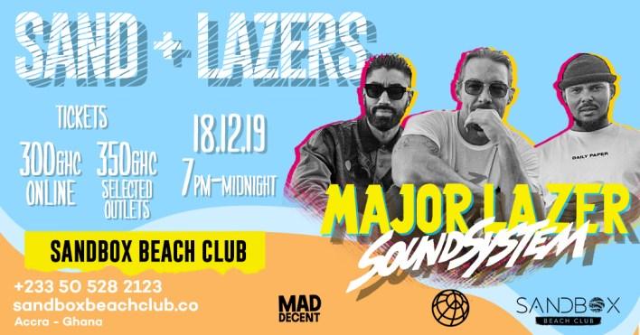 Major Lazer Soundsystem live at Sandbox this December