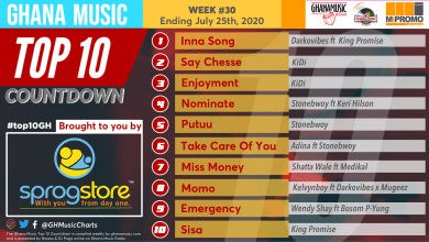 Photo of 2020 Week 30: Ghana Music Top 10 Countdown