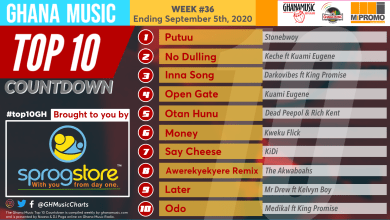 2020 Week 36: Ghana Music Top 10 Countdown