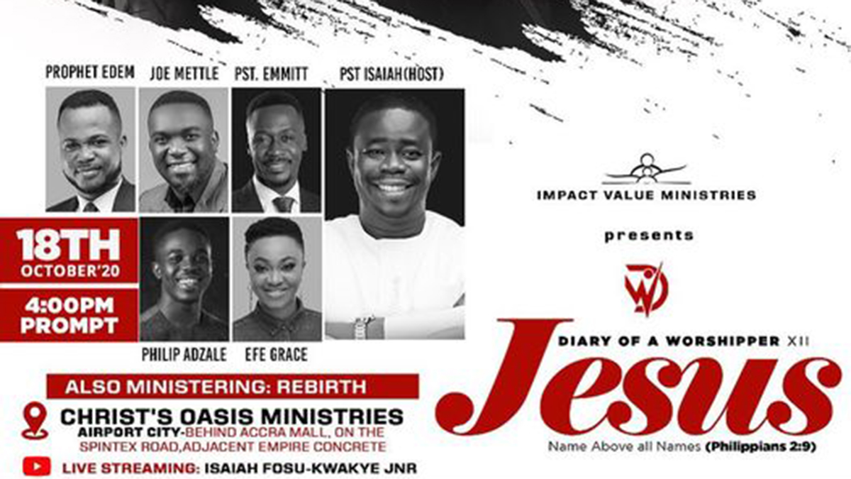 Ps. Isaiah Fosu-Kwakye invites you to Diary of a Worshipper XII this Sunday!