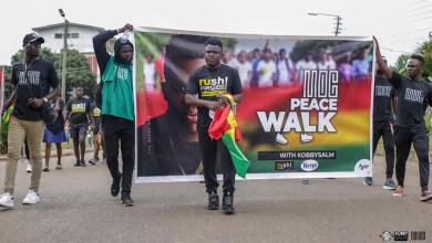 KobbySalm holds successful ITMOC Peace Walk ahead of album launch concert