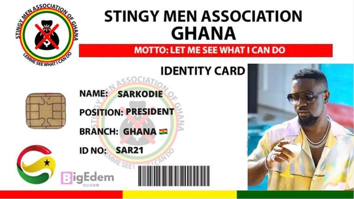 Sarkodie ironically mocks trolls with 'Stingy Men Association' tweet