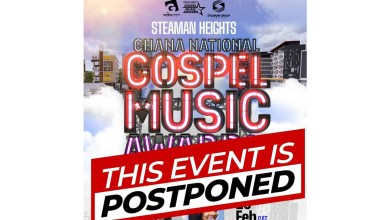 Steaman Heights Ghana National Gospel Music Awards postponed; voting still continues!