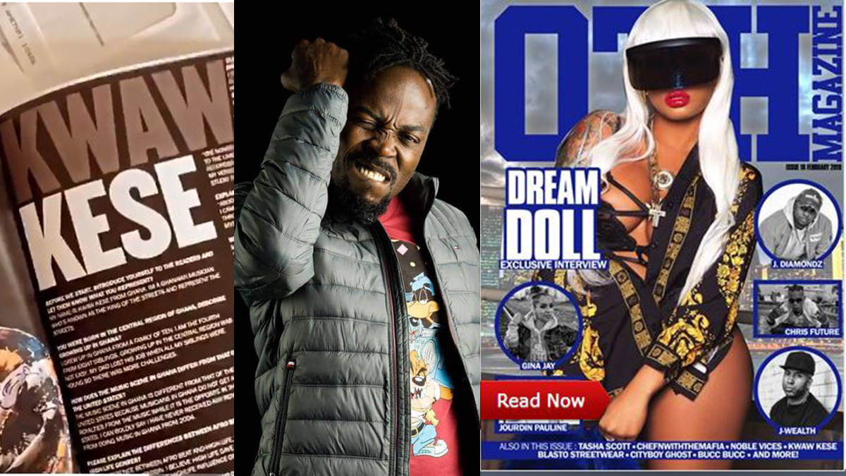 Kwaw Kese elated as he clocks feature in USA's Over Time Hustlin (OTH) magazine