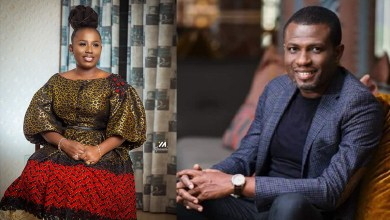 Mark Okraku Mantey backs Diana Hamilton as he takes jab of COVID-19 vaccine