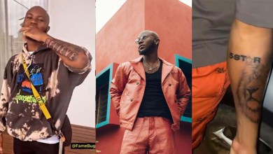 Believe! King Promise unofficially announces incoming album title via tattoo on arms