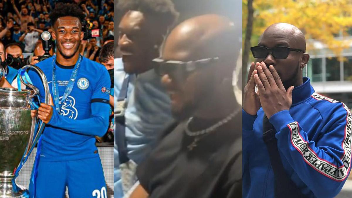 King Promise hosts Chelsea's Hudson Odoi upon arrival in Ghana