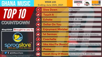 2021 Week 25: Ghana Music Top 10 Countdown