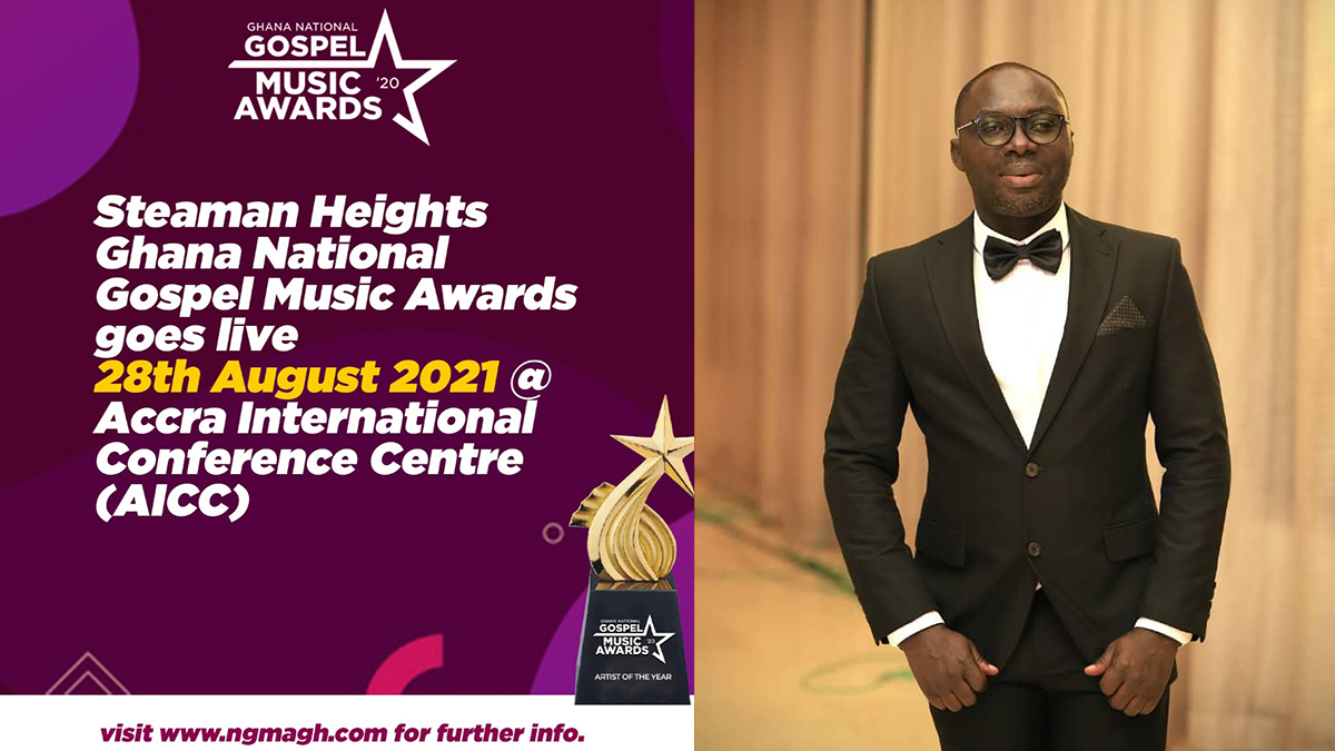 Steaman Heights Ghana National Gospel Music Awards comes off August 28, at the AICC - Peter Kwabena Dwobeng