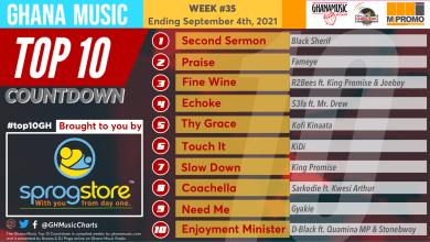 2021 Week 35: Ghana Music Top 10 Countdown