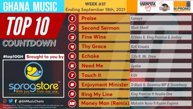 2021 Week 37: Ghana Music Top 10 Countdown