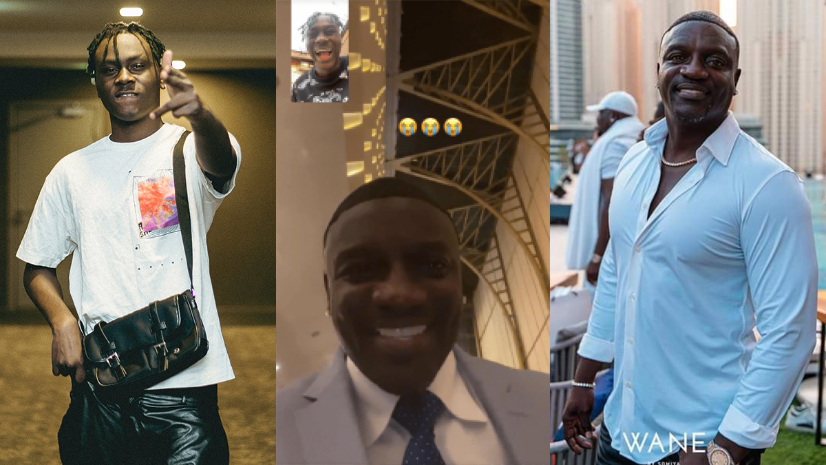 Just Like Burnaboy & Black Sherif, Akon links up with Larruso in a video call!