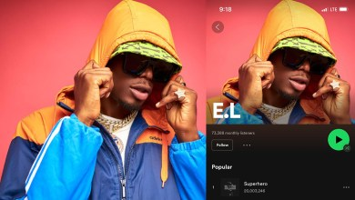 E.L's 'Superhero' becomes most streamed Ghanaian Hip-Hop song on Spotify with over 20M plays
