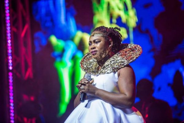 Photos+ Video: Nana Konadu Agyeman Rawlings Falls For Joyce Blessing Top Class Performance At Becca's Concert