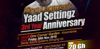 Yaad Settingz 3rd year flyer