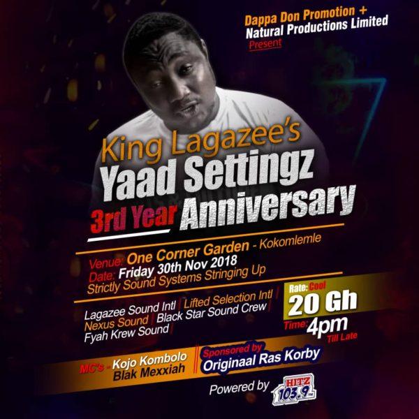 Yaad Settingz 3rd year flyer