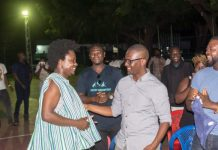 Abraham Ohene-Djan and AJ Nelson at Africa Rise album launch