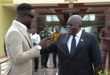Sarkodie and Akuffo Addo
