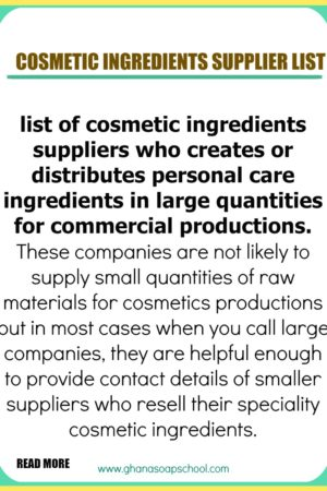 cosmetic ingredients suppliers