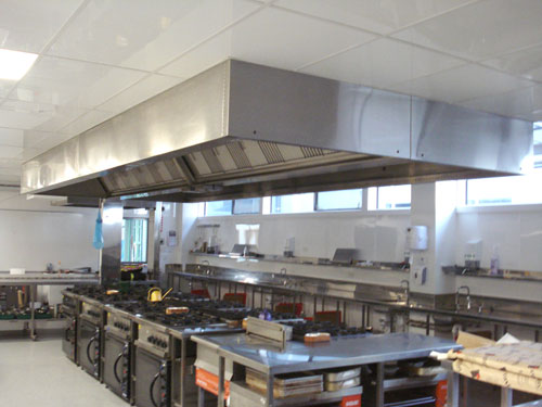 industrial kitchen hood in INSULATION AND DUCTING (Accra, Ghana)