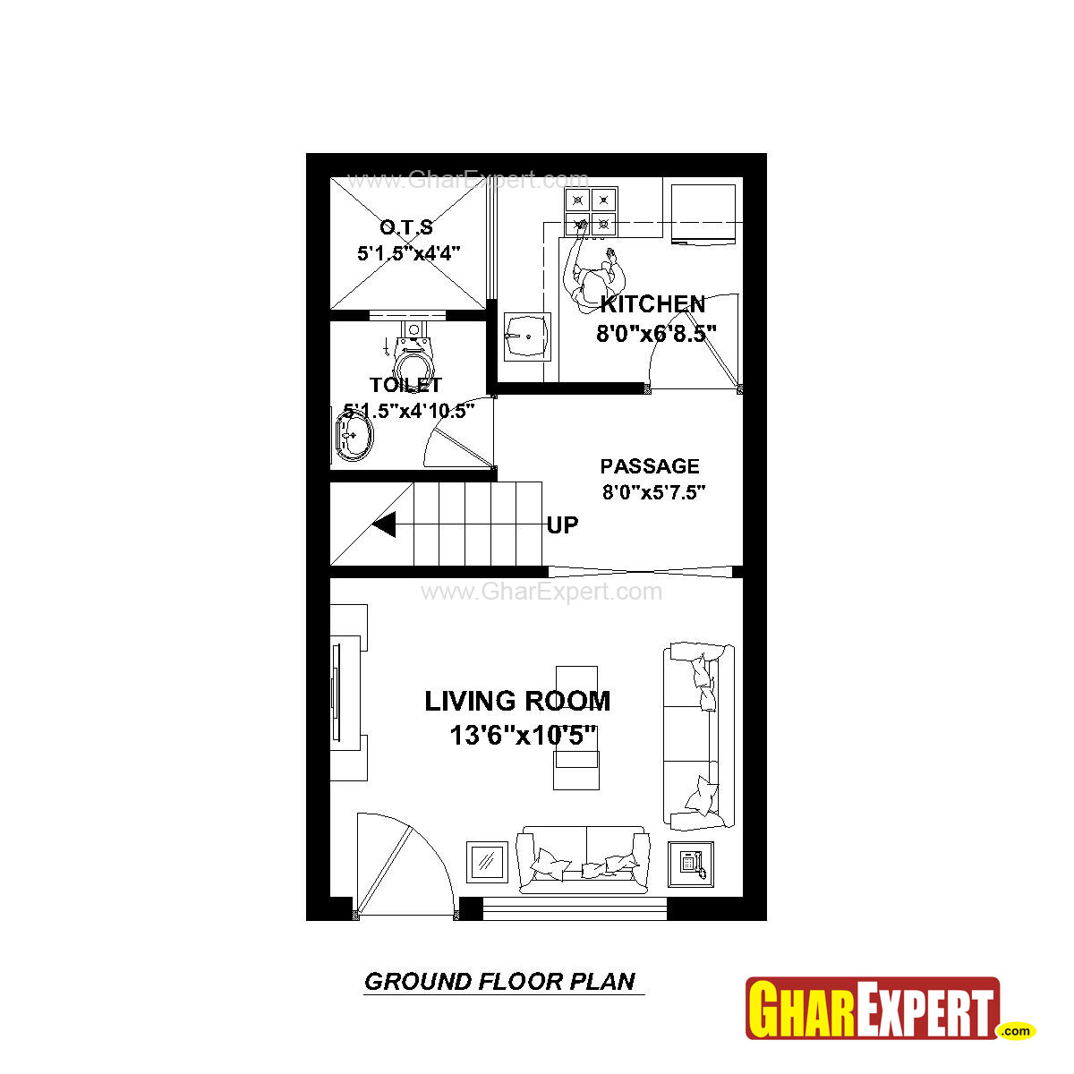 House Plan For 15 Feet By 25 Feet Plot Plot Size 42
