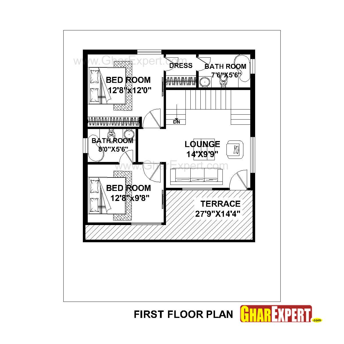 House Plan for 36 Feet by 45 Feet plot (Plot Size 180