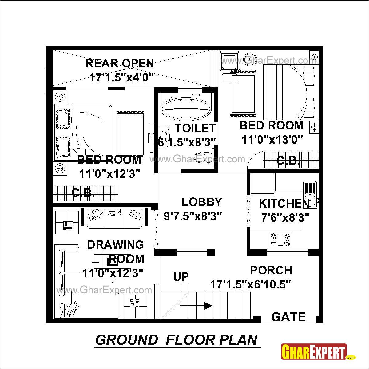 House Plan For 30 Feet By 30 Feet Plot Plot Size 100