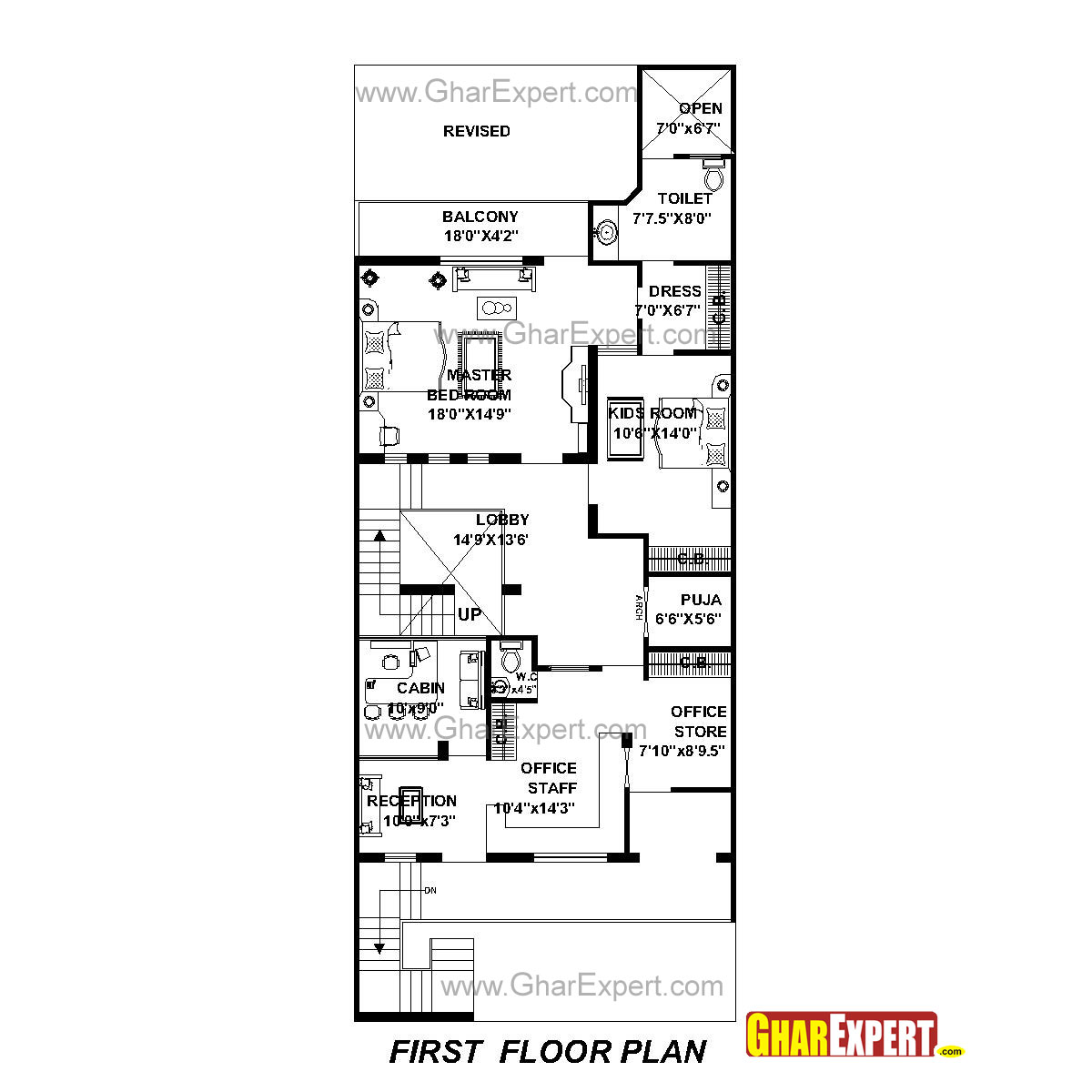 House Plan for 30 Feet by 76 Feet plot (Plot Size 253