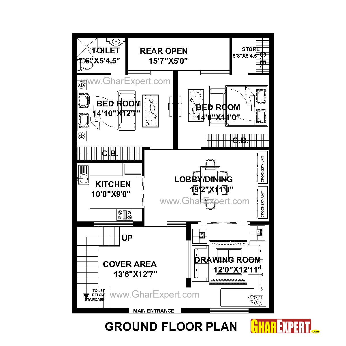 House Plan For 31 Feet By 43 Feet Plot Plot Size 148