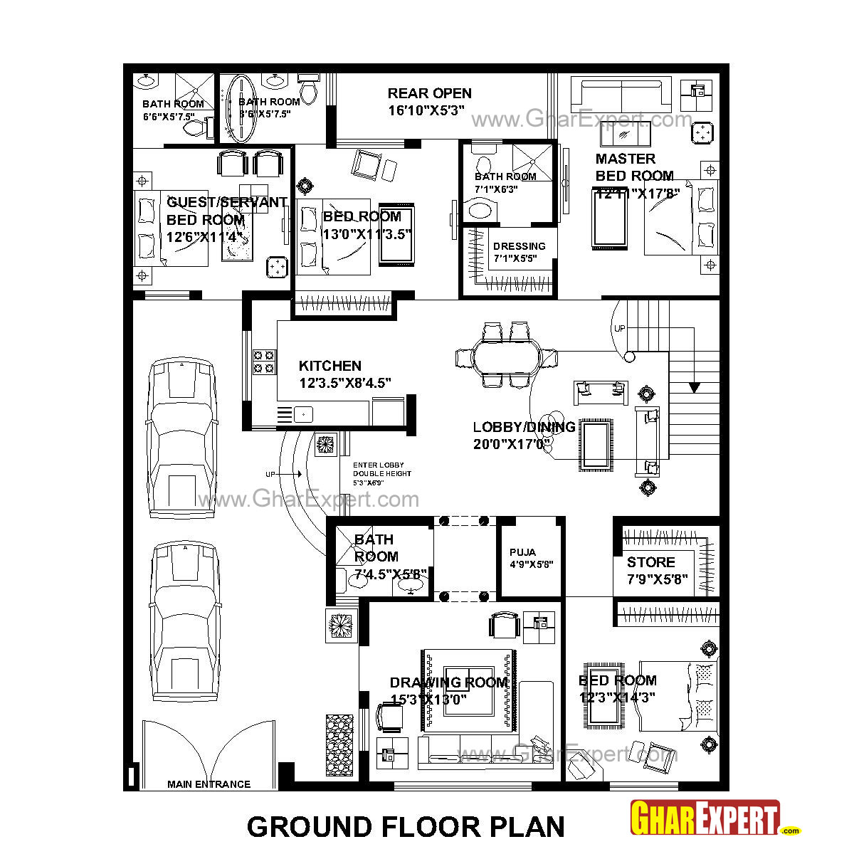 House Plan For 48 Feet By 58 Feet Plot Plot Size 309