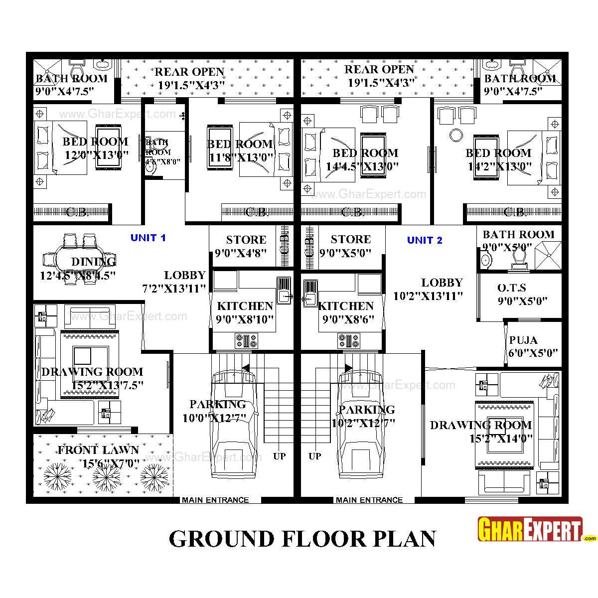 House Plan For 60 Feet By 50 Feet Plot Plot Size 333