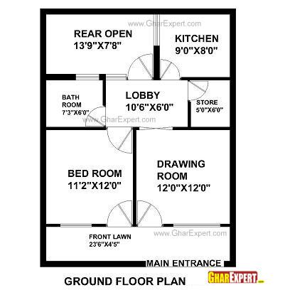 House Plan for 25 Feet by 33 Feet plot (Plot Size 91