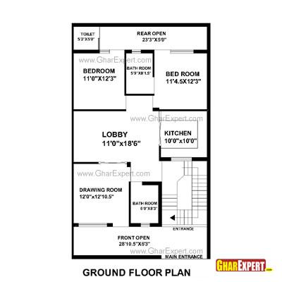 House Plan for 30 Feet by 51 Feet plot (Plot Size 170