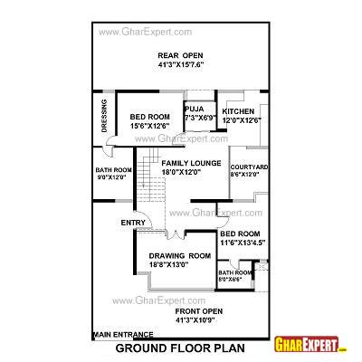 House Plan for 42 Feet by 75 Feet plot (Plot Size 350