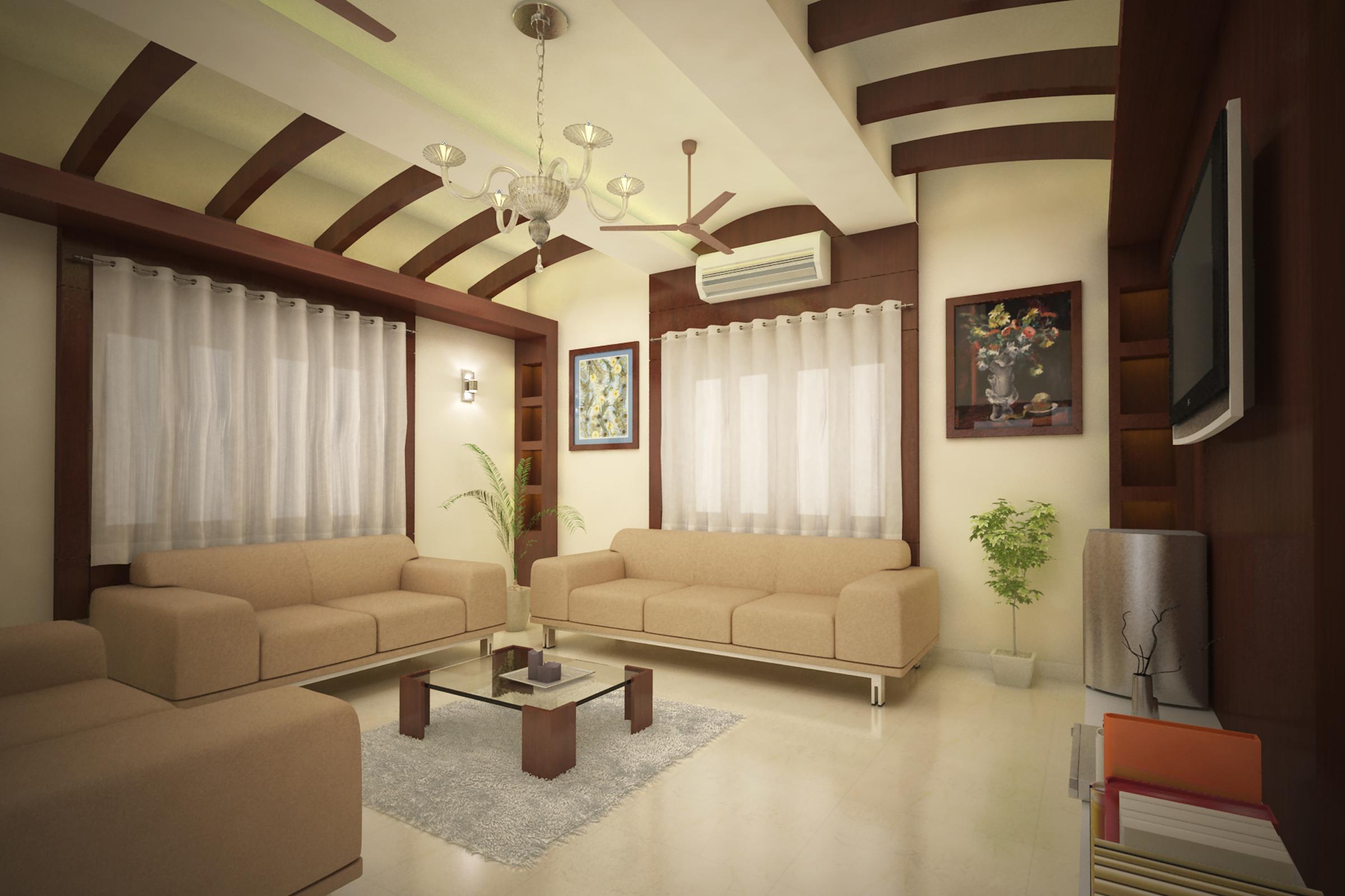 POP false ceiling with wooden beam design  GharExpert