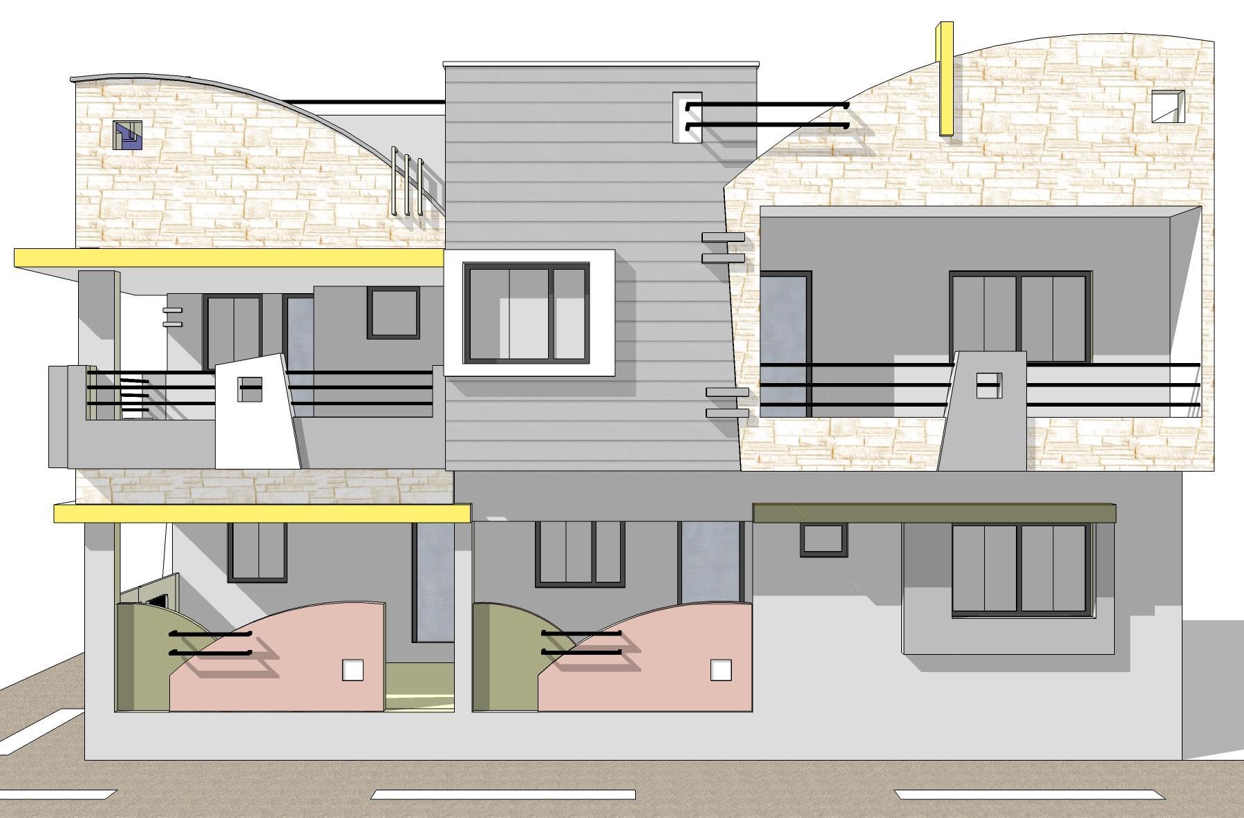SIDE elevation design for house