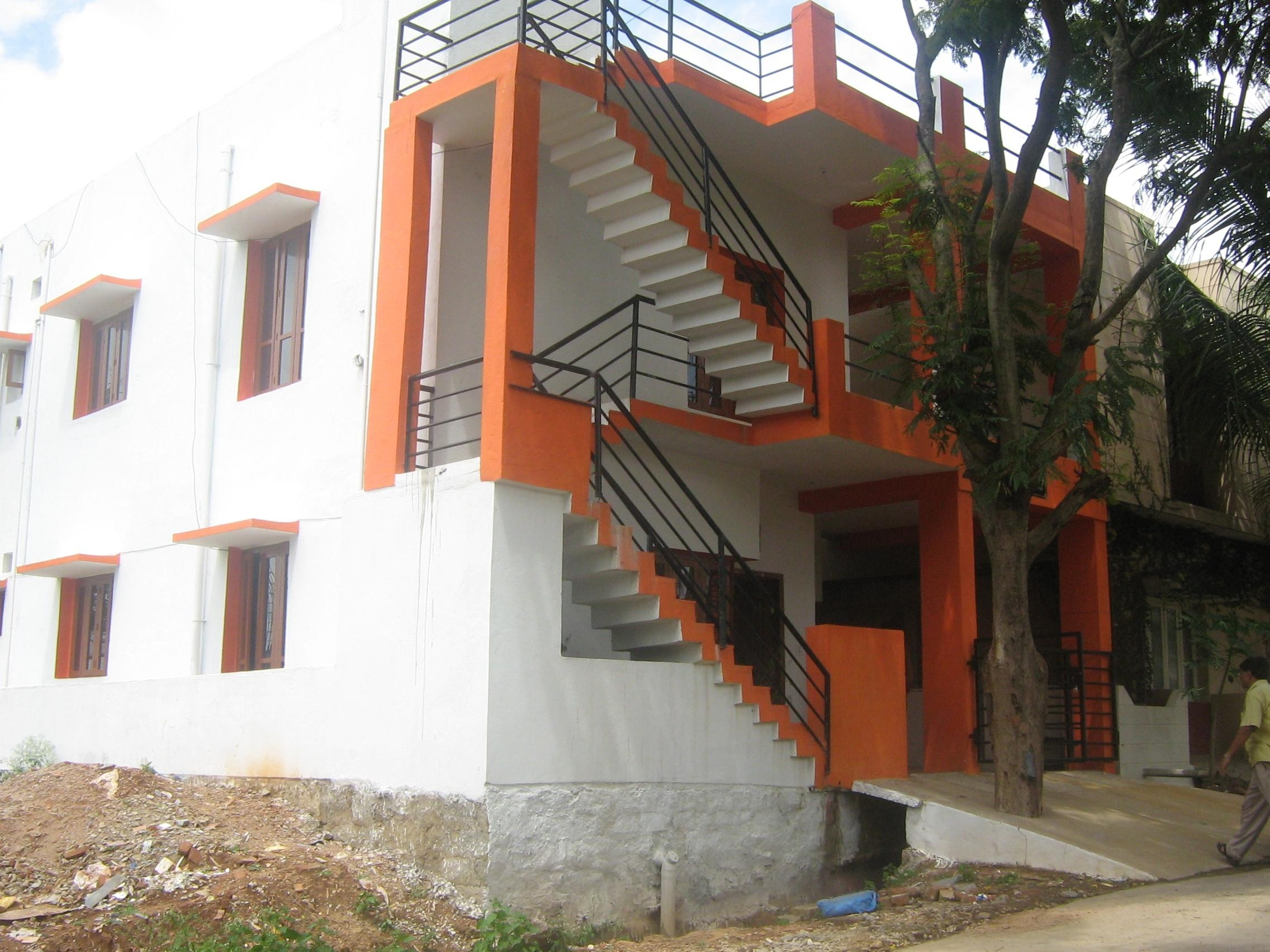 External Folded Stairs Gharexpert | Outside Steps Design For Home | Garden | Second Floor | Low Cost | Main Entrance Step | Railing
