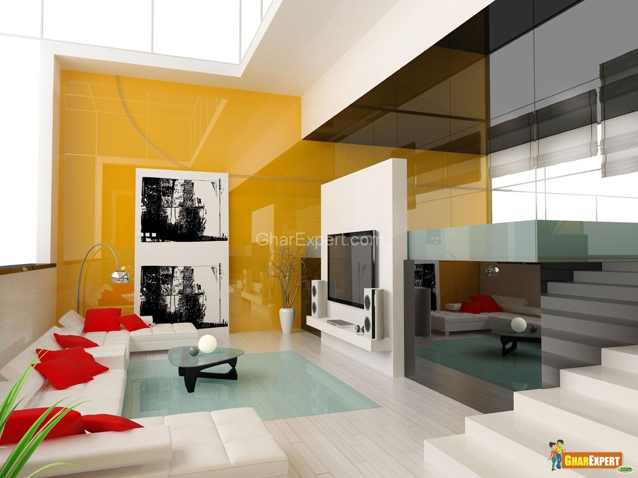 Modern Drawing TV Room  GharExpert