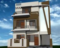 30' front colony house with outside wall design simple ...