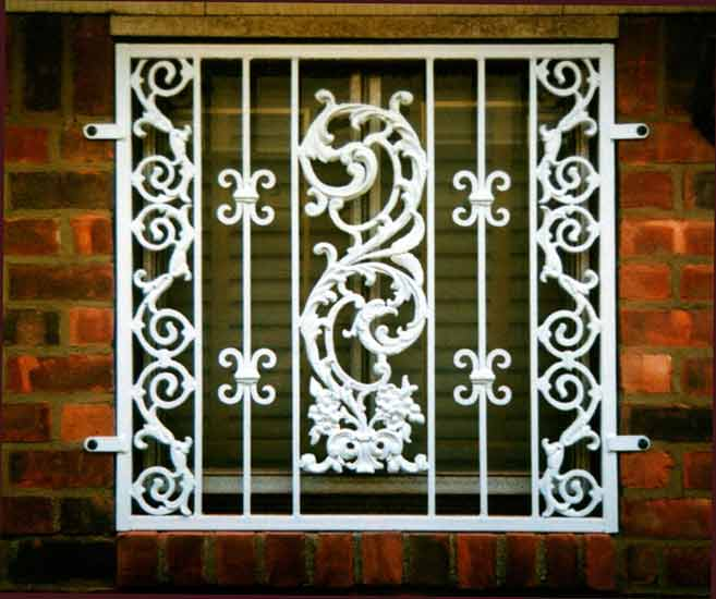 Designs of window grills, Window safety grills