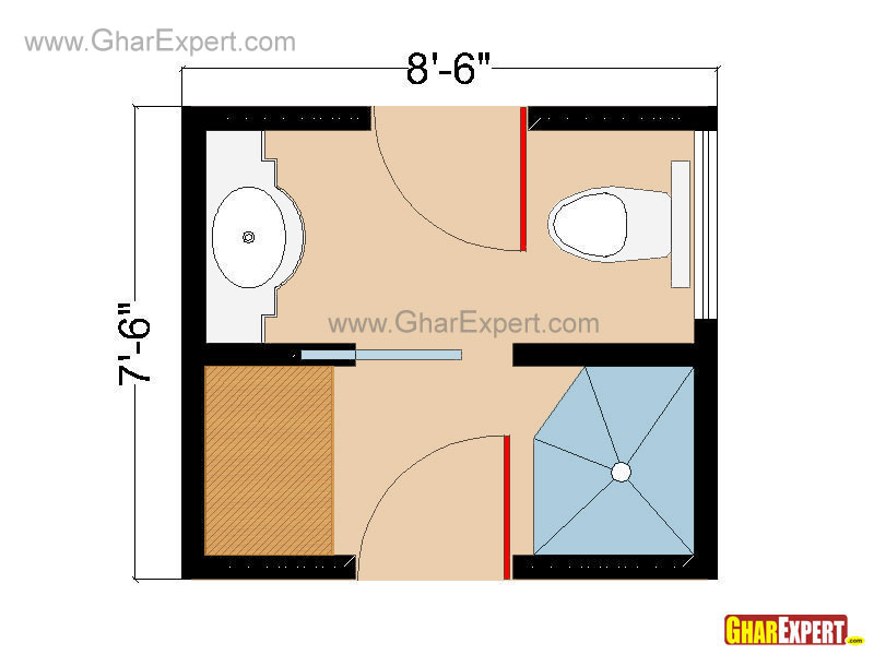 Bathroom Plans Bathroom Layouts For 60 To 100 Square Feet Gharexpert Com