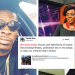 See Nana Aba's Reaction To A Twitter User Who Said Shatta Wale Should Use Definitions Of Words Like Photosynthesis & Pollination In His Songs