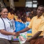 Moesha Boduong Shows Generosity;Answers The Cries Of Pupils Of Tebu M/A Basic School