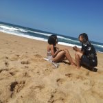(Photos & Video) South African Lady Extremely Excited After Her Lesbian Partner Proposed To Her With Expensive Diamond Ring At The Beach